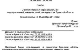 Региональный материнский капитал в Брянске и Брянской области: условия получения