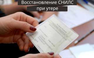 Как восстановить СНИЛС при утере: необходимые документы, особенности процедуры