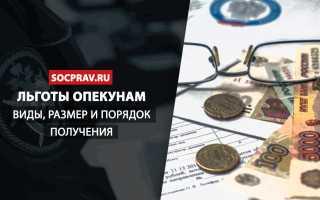 Социальная помощь опекунам в России